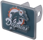 Miami Dolphins NFL Trailer Hitch Receiver Cover