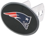 "New England Patriots 2"" NFL Trailer Hitch Receiver Cover - Oval Face - Zinc"