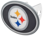 "Pittsburgh Steelers 2"" NFL Trailer Hitch Receiver Cover - Oval Face - Zinc"