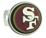 San Francisco 49ers Oval NFL Trailer Hitch Receiver Cover