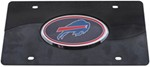 Buffalo Bills NFL License Plate - Chrome-Lined Oval Logo - 2-Tone Acrylic