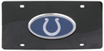 Indianapolis Colts NFL License Plate - Chrome-Lined Oval Logo - 2-Tone Acrylic