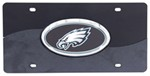 Philadelphia Eagles NFL License Plate - Chrome-Lined Oval Logo - 2-Tone Acrylic