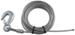 "Fulton Galvanized Winch Cable with Hook - 25' x 3/16"" - 4,200 lbs"
