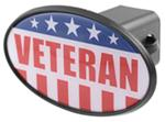 "United States Veteran 2"" Trailer Hitch Receiver Cover - ABS Plastic"