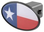 "Texas Flag 2"" Trailer Hitch Receiver Cover - ABS Plastic"
