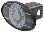 "Seal of Texas 2"" Trailer Hitch Receiver Cover - ABS Plastic"