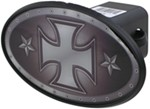 "Iron Cross 2"" Trailer Hitch Receiver Cover - ABS Plastic"