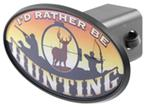 "Rather Be Hunting 2"" Trailer Hitch Receiver Cover - ABS Plastic"