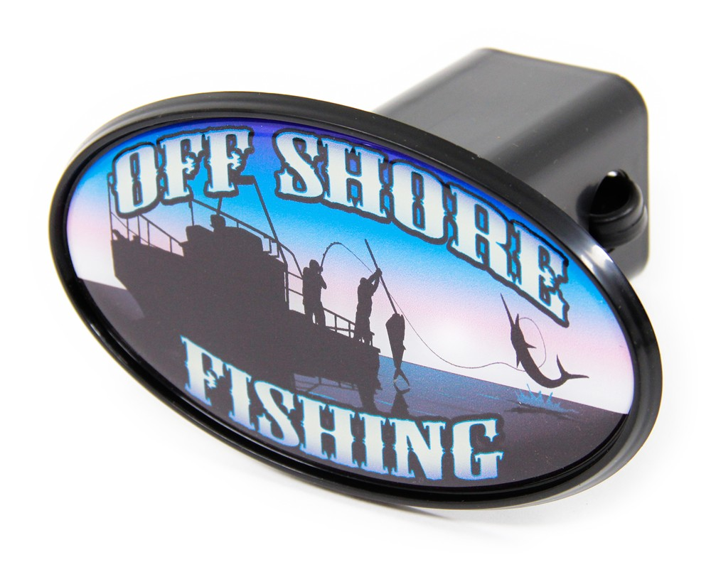 Offshore fishing 2 trailer hitch receiver cover abs for Fish hitch cover