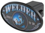 "Welder 2"" Trailer Hitch Receiver Cover - ABS Plastic"