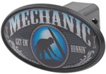 "Mechanic 2"" Trailer Hitch Receiver Cover - ABS Plastic"
