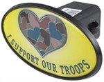 "I Support Our Troops 2"" Trailer Hitch Receiver Cover - ABS Plastic"