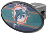 "Miami Dolphins 2"" NFL Trailer Hitch Receiver Cover - ABS Plastic"