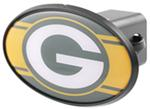 "Green Bay Packers 2"" NFL Trailer Hitch Receiver Cover - ABS Plastic"