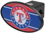 "Texas Rangers 2"" MLB Trailer Hitch Receiver Cover - ABS Plastic"