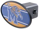 "Memphis Tigers 2"" NCAA Trailer Hitch Receiver Cover - ABS Plastic"