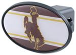 "Wyoming Cowboys 2"" NCAA Trailer Hitch Receiver Cover - ABS Plastic"
