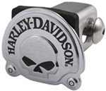 "Harley-Davidson Skull 2"" Trailer Hitch Receiver Cover - Chrome"