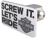 "Harley-Davidson 2"" Trailer Hitch Receiver Cover - Screw It Let's Ride - Chrome"
