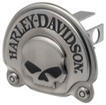 "Harley-Davidson Skull 1-1/4"" Trailer Hitch Receiver Cover - Antique"