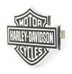 "Harley-Davidson Motorcycles Black Logo Trailer Hitch Cover for 1-1/4"" Trailer Hitches"