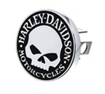 "Harley-Davidson 1-1/4"" Trailer Hitch Cover - Willie G. Skull Emblem - Chrome-Plated Brass"