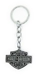 Harley-Davidson Key Chain - Bar & Shield - Black and Chrome