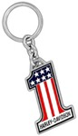 Harley-Davidson Key Chain - Number 1 American Flag