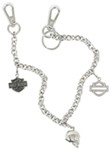 Harley-Davidson Small-Link Belt Key Chain with Swarovski Crystals
