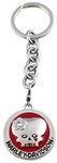Harley-Davidson Lady Skull Logo Key Chain with Swarovski Crystal