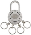 Harley-Davidson Multi-Ring Padlock Key Chain with Swarovski Crystals