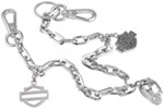 Harley-Davidson Large-Link Belt Key Chain with Swarovski Crystals