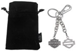 Harley-Davidson Bar-and-Shield Logo Key Chain with Swarovski Crystals and Belt Loop Clasp