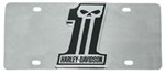 Harley-Davidson License Plate - Number 1 Skull - Stainless Steel