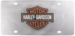 Harley-Davidson License Plate with 3-Color Logo Cut-Out Emblem