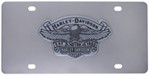 Harley-Davidson License Plate with Contour Cut-Out Eagle on Vintage Logo with Est. 1903 and H-D Bann