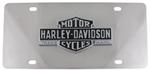 Harley-Davidson License Plate with Vintage Logo Cut-Out Emblem