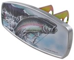 "HitchMate Rainbow Trout Trailer Hitch Receiver Cover - 1-1/4"" or 2"" Hitch - Aluminum"
