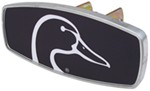 "HitchMate Ducks Unlimited Trailer Hitch Cover - 1-1/4"" or 2"" Hitch - Aluminum - Black"