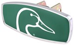 "HitchMate Ducks Unlimited Trailer Hitch Cover - 1-1/4"" or 2"" Hitch - Aluminum - Green"