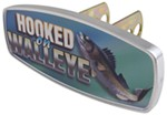 "HitchMate Hooked on Walleye Trailer Hitch Receiver Cover - 1-1/4"" or 2"" Hitch - Aluminum"