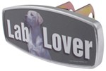 "HitchMate Lab Lover Trailer Hitch Receiver Cover - 1-1/4"" or 2"" Hitch - Aluminum"