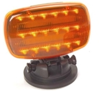 Adjustable Amber LED Emergency Light, Magnetic Base
