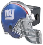 "New York Giants Helmet 2"" NFL Trailer Hitch Receiver Cover"