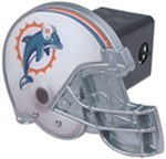 "Miami Dolphins Helmet 2"" NFL Trailer Hitch Receiver Cover"