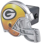 "Green Bay Packers Helmet 2"" NFL Trailer Hitch Receiver Cover"