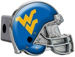 "West Virginia Mountaineers Helmet 2"" NCAA Trailer Hitch Receiver Cover"
