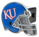 "Kansas Jayhawks Helmet 2"" NCAA Trailer Hitch Receiver Cover"