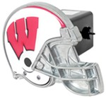 "Wisconsin Badgers Helmet 2"" NCAA Trailer Hitch Receiver Cover"